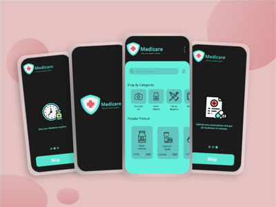 New Concept Medicine Delivery App Dark Theme delivery app delivery medical app medicine medical appmaker androidapp uidesign ondemand application appdeveloper uxuidesign appdesign mobileapp