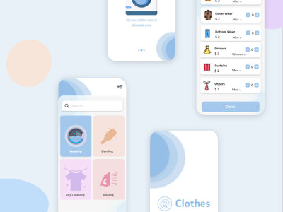 Laundry App New Concept for 2021 launch clone android clone app clone laundry laundry app appmaker androidapp uidesign application ondemand appdeveloper uxuidesign appdesign mobileapp
