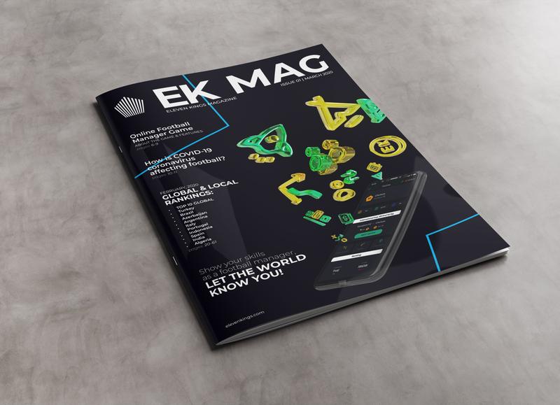 EK MAG   Eleven Kings Magazine #01 entertainment football manager game graphic design magazine cover magazine editorial