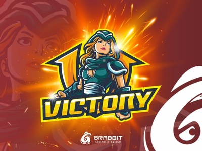 VICTORY Esport logo design logo mascot esport logo simple cool icon vector design cartoon mascot illustration logo