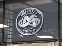 infinity media mockup glass
