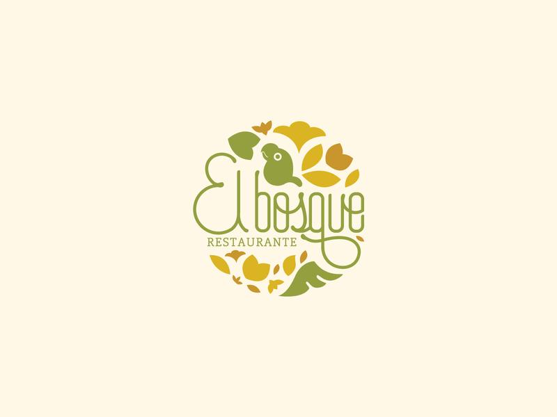 """El Bosque"" Restaurant Logo"