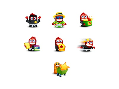 Monster Badge Icons