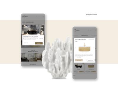 Mobile version uiux bathroom luxury brand luxury elegant webdesign web ui ux design