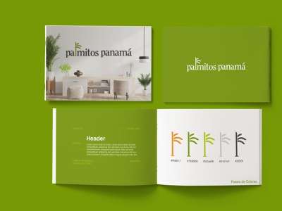 Palmitos Panamá professional colors typography palm plants business nature green brand logo design food
