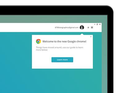 Google Chrome  design chrome google graphics interface photoshop redesign uiux user web