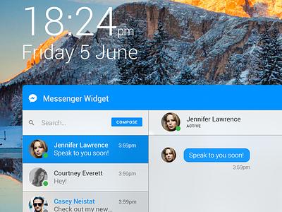 Desktop Messenger Widget flat interface user design graphic ux ui