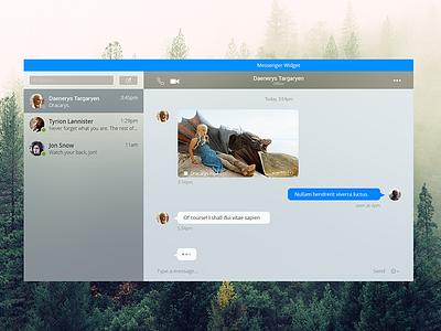 Messenger Widget for Desktop interface design interface desktop messenger widget graphics yosemite flat web ux ui design