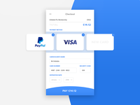 Credit card checkout - DailyUI :: 002