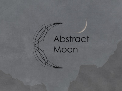 Abstract moon moon visual identity vector logodesigner logodesign logo illustration graphicdesigner freelancer design branding brandidentity