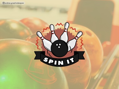 Spin it bowling logodesign logo branding logodesigner brandidentity vector illustration graphicdesigner freelancer design