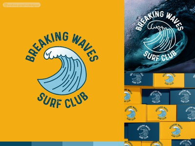 Breaking Waves surf logo summer surfing surf wave logo logodesign branding logodesigner brandidentity vector illustration graphicdesigner freelancer design