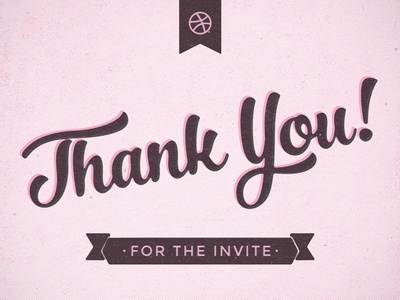 Thank you! invite thank you first shot debut