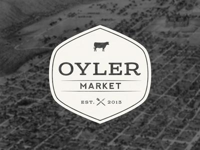 Oyler Market Logo logo branding bbq retro vintage badge identity