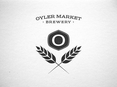 Oyler Market Brewery Logo logo branding retro vintage badge identity
