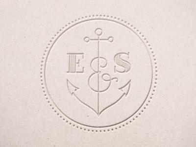 E&S Monogram monogram logo wedding nautical anchor initials ampersand