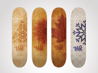 Valdi Skateboards skateboard pattern seasons geometric branding