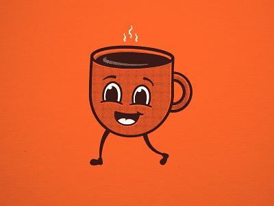 Cuppo Joe coffee illustration retro