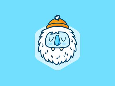 Yeti flat yeti illustration icon winter blue