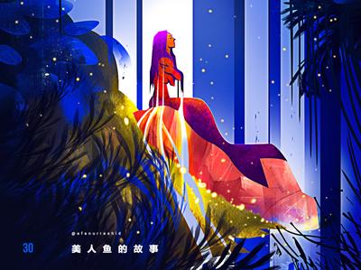 Mermaid s tale illustration art creative image cg painting concept art