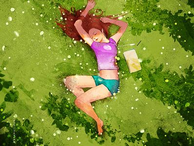 Summer winds illustration creative art creative image cg painting concept art
