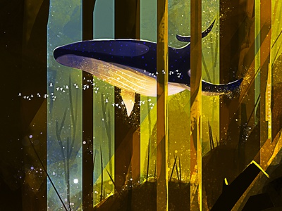 Music whale creative image creative character illustration art game art cg painting concept art
