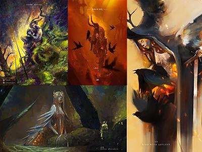 Speed paint creative game art character design illustration art creative image cg painting concept art