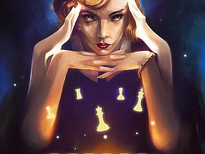 The queen s gambit design character illustration art creative image cg painting concept art