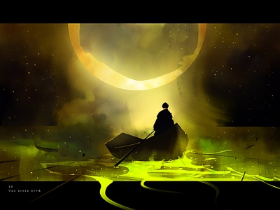 The river Styx game creative illustration art game art creative image cg painting concept art