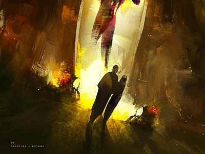 Creating a mutant design character illustration creative art game art creative image cg painting concept art