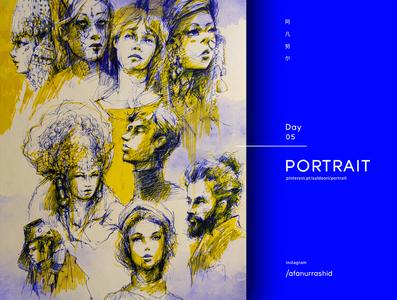 Portrait study art painting concept art