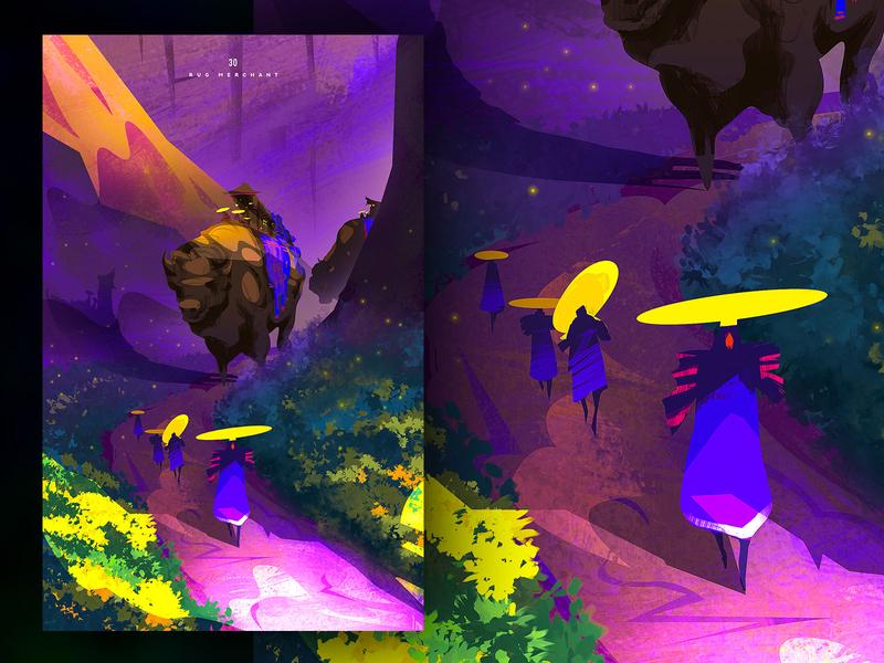 Rug merchant design illustration character creative art game art creative image cg painting concept art
