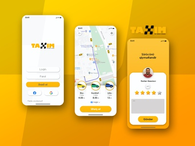 TAXIM website minimal app web ux ui