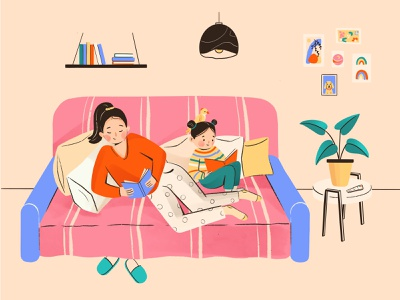 Sweet home read stayhome characterdesign art sketch flatillustration drawing digitalart illustration