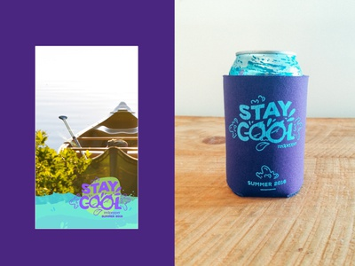 Stay Cool Koozie filter snapchat face summer cool koozie