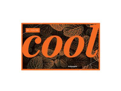 Bc your're Cool orange cool print postcard