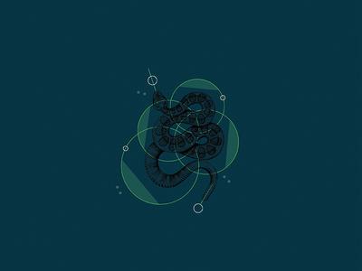 Floral 2 - Snake