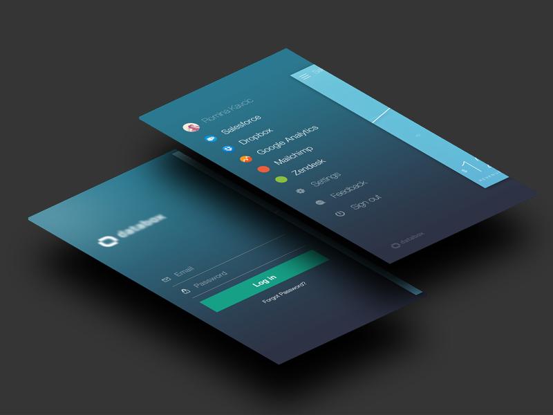 Log in / Menu menu login ios7 gradient icons stats user navigation form