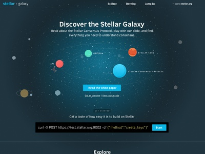 New Stellar Consensus Protocol is online stellar network planet colors payment decentralized earth space alien