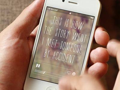 Playing your favorite song ♫ music ui app lyrics play