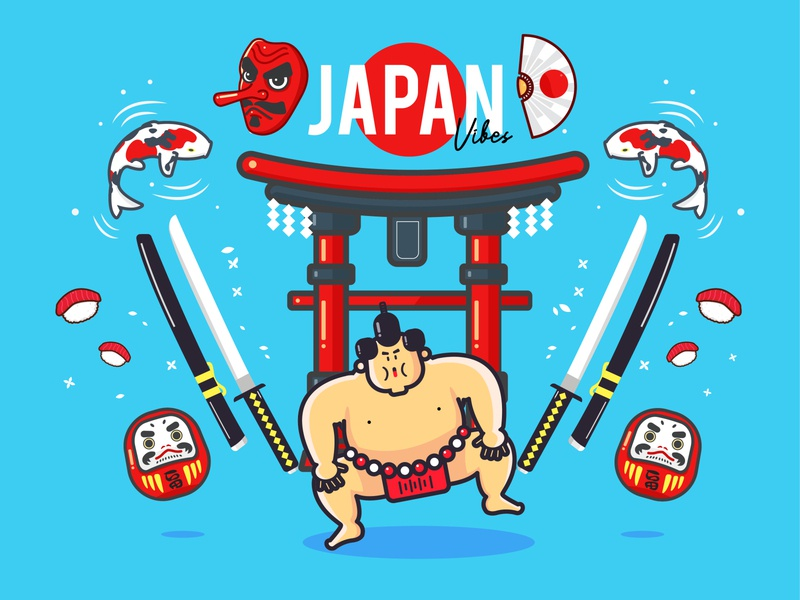 Japan Vector Illustration Set