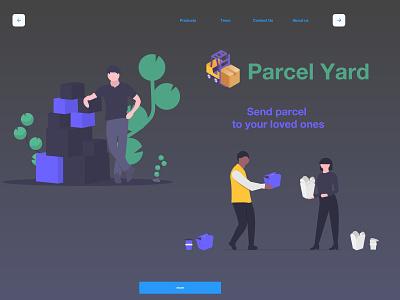 Parcel Yard app web ui design