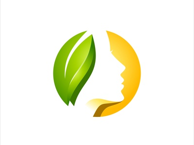 beauty women face and leaf leaf  vector logo illustration design logo flower head hair fashion female nature sign woman concept natural abstract face spa icon leaf illustration vector beauty