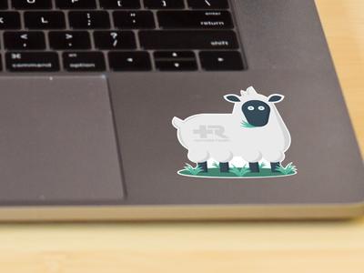 Branded Sheep Sticker