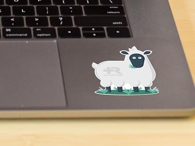 Branded Sheep Sticker sheep remodel health health insurance healthcare marketing campaign sticker design stickermule print design illustration