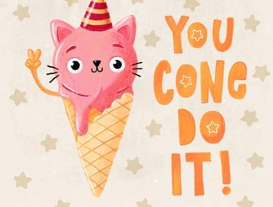 You cone do it ice cream summer icecream doodleart procreate doodle art illustration doodle