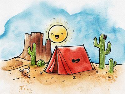 Desert Doodle procreate watercolor doodle art doodleart doodle illustration