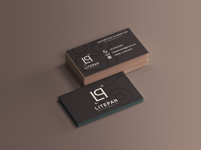 Litepah business card business card mockup business card design branding illustration