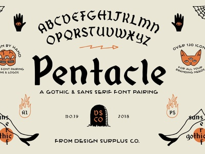 Pentacle Font DOWNLOAD bold poster signature handwriting typography handmade display elegant brush vintage wedding calligraphy modern branding lettering handwritten logo typeface script font