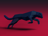 The Cheetah - Low Poly